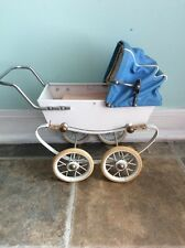 French Doll Pram Buggy, Red By Doucet Reims Doll Carriage France Antique Victori