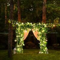 String Fairy Lights Leave Garland Wire Battery Garden Party Wedding Decor UK