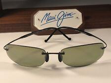 Maui Jim Honolua Bay MJ 516-02 Titanium Rimless Sunglasses W/Maui HT Polarized