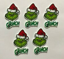 5 X THE GRINCH CHRISTMAS PLANAR RESIN FLATBACK EMBELLISHMENT CRAFT SCRAPBOOK