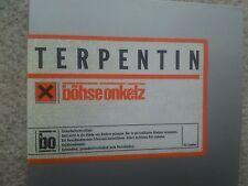 BÖHSE ONKELZ  TERPENTIN GERMAN 3 TRACK MAXI CD 1998 GATEFOLD SLEEVE MEGA RARE !