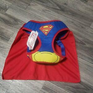 Justice League Superman Dog Harness & Cape Sz Small New 🔥