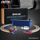 Fit For Universal 7 Row Transmission Oil Cooler Kit Filter Adapter Hose End