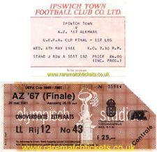 reproduction 1981 IPSWICH TOWN AZ67 ALKMAAR uefa cup final tickets [RMT]