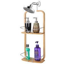 Sortwise® 2-Tier Shelf Organizer Bamboo Bathroom Shower Tub Hanging Caddy Rack