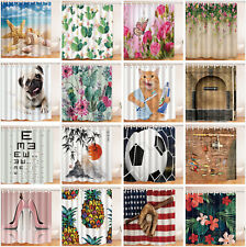 Waterproof Fabric & 12 Hooks Bathroom Polyester Shower Curtain Beautiful Unique