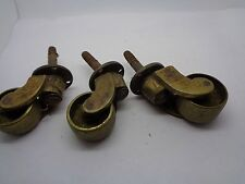 VINTAGE SET 3 SWIVEL BRASS FEET ARCHITECTURAL CRAFT UPHOLSTERY CABENTS