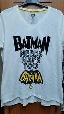 Official DC Comic Ladies BATMAN PYJAMA NightShirt T-Shirt - in size XL (18 - 20)