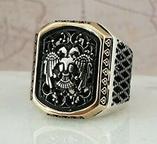 HandMade Solid 925 Sterling Silver  Ottoman  Men Ring  AAA Quality 15 gr Z