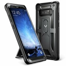 Samsung Galaxy Note 8 Case Clip Holster Heavy Duty Shockproof Kickstand Black