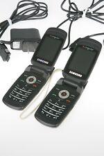 2 Samsung Cingular SGH-C471 Cell Flip Phones Quadband CLEAN