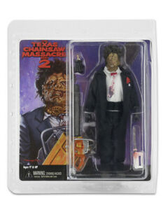 """TEXAS CHAINSAW MASSACRE PART 2 LEATHERFACE Clothed New 8"""" Action Figure by NECA"""