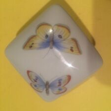 Limoge France Butterfly Lidded Porcelain Box Vintage