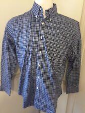 Polo Ralph Lauren 17 34/35 Approx XL Button Front Men's L/S Shirt Classic Plaid