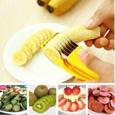 Banana Slicer Stainless Steel Fruit Cutter Cucumber Chopper Vegetable Peeler HOT