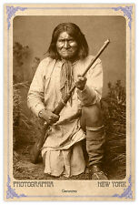 Apache Legend Geronimo Vintage Photograph A++ Reprint Cabinet Card CDV