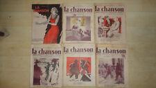 LOT REVUE MAGAZINE LA CHANSON 1931 1932