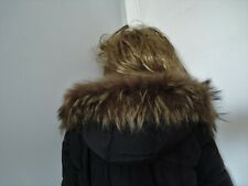 Brown real fox fur collar scarf trim strip for hood jacket parka furstrip