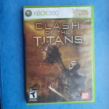 CLASH OF THE TITANS XBOX 360 2010 GAME AND CASE ACTUAL PICTURES