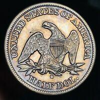 1858 O Seated Liberty Half Dollar 50C High Grade Details Silver US Coin CC5620
