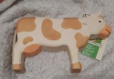 Holztiger Brown Standing Cow BNWTS 80010 black stamp