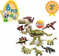 Totem World 6 Filled Easter Egg Building Toys - Dinosaur Set - Age 6-12...
