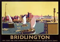 TX415 Vintage Bridlington North Yorkshire LNER Railway Travel Print Poster A3/A4