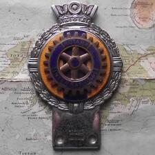 c1950 Vintage Car  Mascot Badge : Rotary International by J.R. Gaunt , London B
