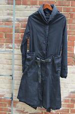 Rundholz Dip black  coat with leather belt size M