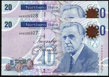 DU NORD monnaie ltd belfast billets de banque véritable Monnaie VF à UNC 2005