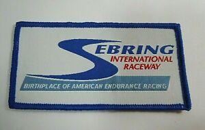 "Vtg Sebring Intl Raceway Embroidered Iron-On Patch 4"" Sebring Florida IMSA"
