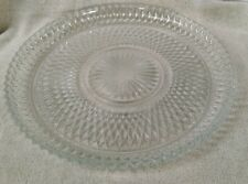 "*Cut glass plate 12"" clear glass vintage serving platter"