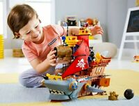 Fisher-Price Imaginext Shark Bite Pirate Ship, Gift for kids NEW FREE SHIPPING