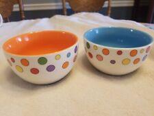 Set Of 2 Avon China Polka Dot Ice Cream Custard Bowls