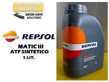 OLIO CAMBIO AUTOMATICO REPSOL MATIC III ATF SINT DEXRON III 1 LIT. =CASTROL