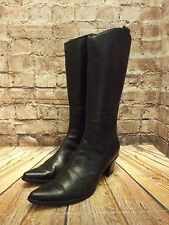 Womens In Extenso Black Leather Zip Fastening Mid Heel Mid Calf Boots EU 38