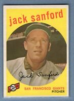 1959 Topps #275 Jack Sanford EX-MT    Set Break A