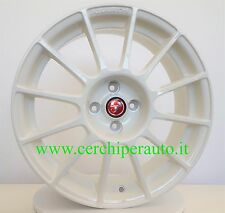 4 Cerchi in lega originali Abarth bianchi 7x17 4x98 ET35 58.1 Fiat 500 Essesse