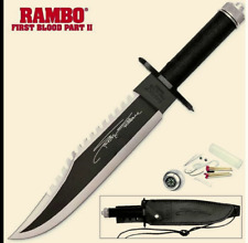 RAMBO FIRST BLOOD SURVIVAL KNIFE LEATHER SHEATH Fishing Camping Sports Movie