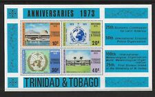 "1973 Trinidad & Tobago Anniversaries Minisheet ERROR ""Inverted Watermark"" MNH"