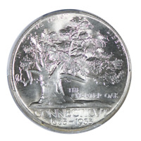 1935 Connecticut Silver Commemorative Half Dollar PCGS MS65