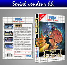MASTER SYSTEM : MASTER OF DARKNESS. COVER PRINTED + CASE. NO GAME. MULTILINGUAL.