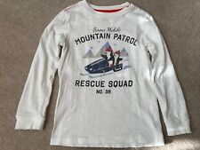 Carters Boys White 'Mountain Patrol' Long Sleeve Shirt Top Size 5T VGUC