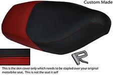 DARK RED & BLACK VINYL CUSTOM 125 FX VX FITS GILERA RUNNER SEAT COVER