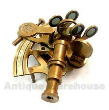 Handmade Nautical Antique Brass Desk Top GERMANY Sextant Marine Ship Gift Decor