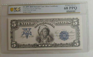 $5 1899 BEP Intaglio Banknote Graded PCGS 68 PPQ Superb Gem