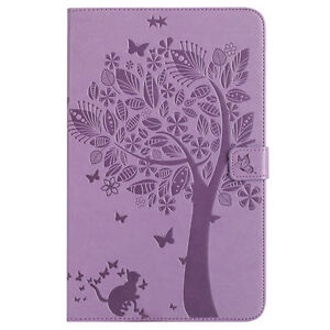Cat Tree Wallet Leather Flip Case Cover For Samsung Tab T580 T560 T290 T860 P610
