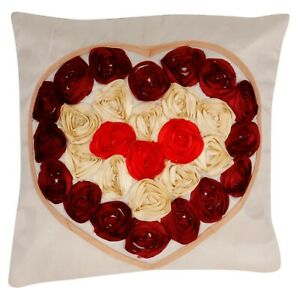 """16"""" Heart and Love Cushion Cover From India 100% Cotton Cover Express Shipping"""
