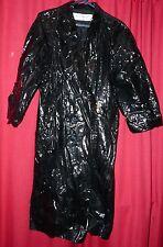 womans Yves st Laurent shiny wet look pvc long raincoat classic Tv sexy