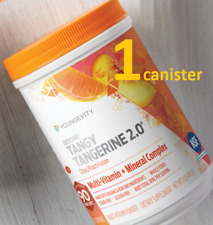 Youngevity Beyond Tangy Tangerine 2.0 Citrus Peach Fusion Canister Multi-Vitamin Powder